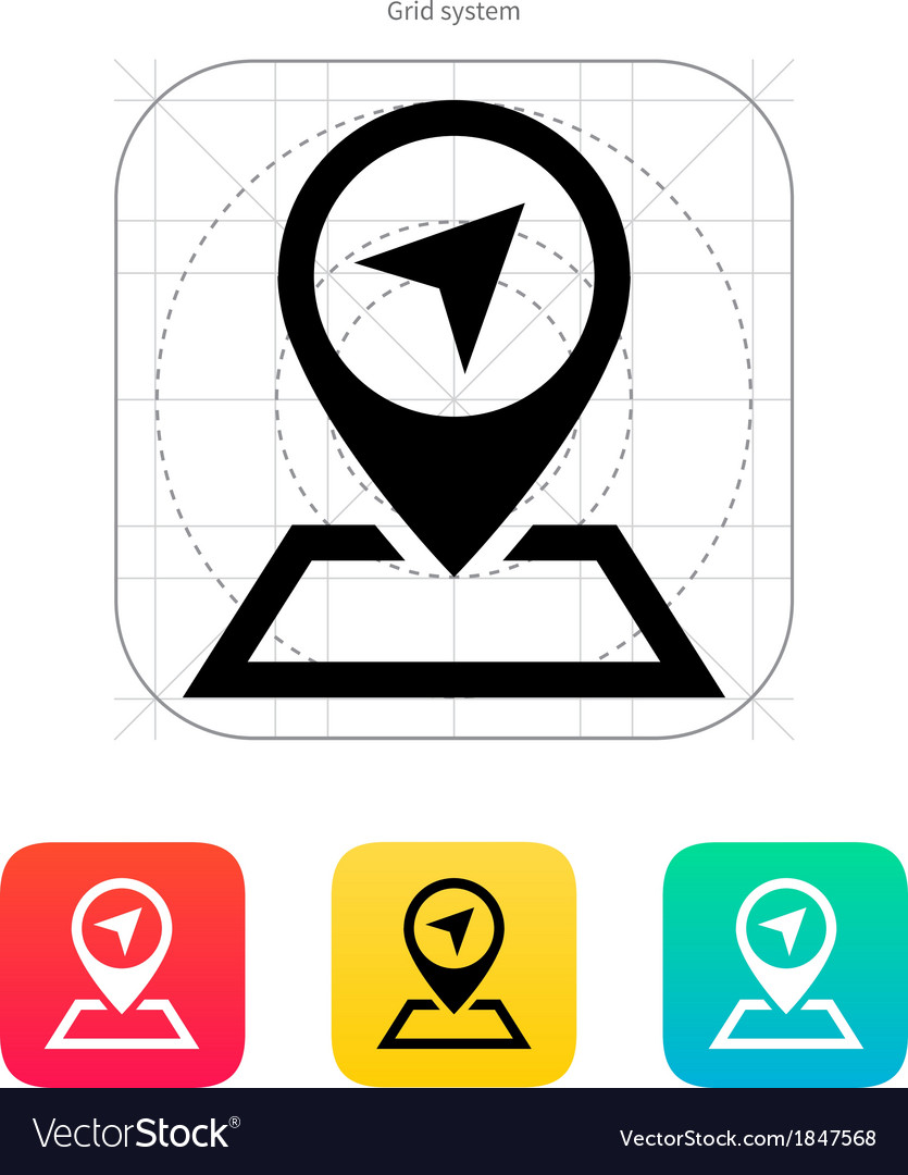 Pin pointer icon vector | Price: 1 Credit (USD $1)