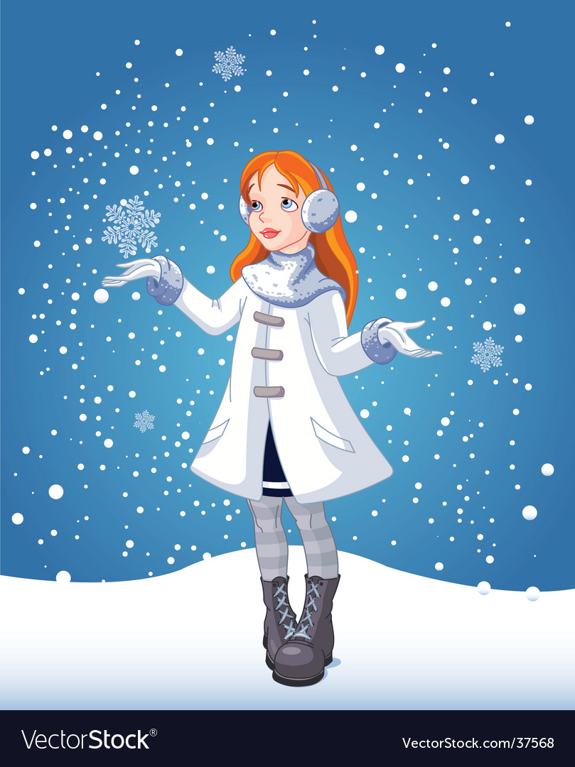 Snow girl vector | Price: 3 Credit (USD $3)