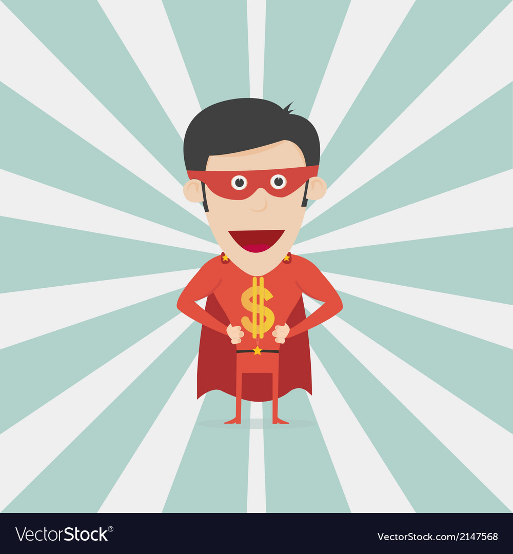Super money man for business and finance concept vector | Price: 1 Credit (USD $1)