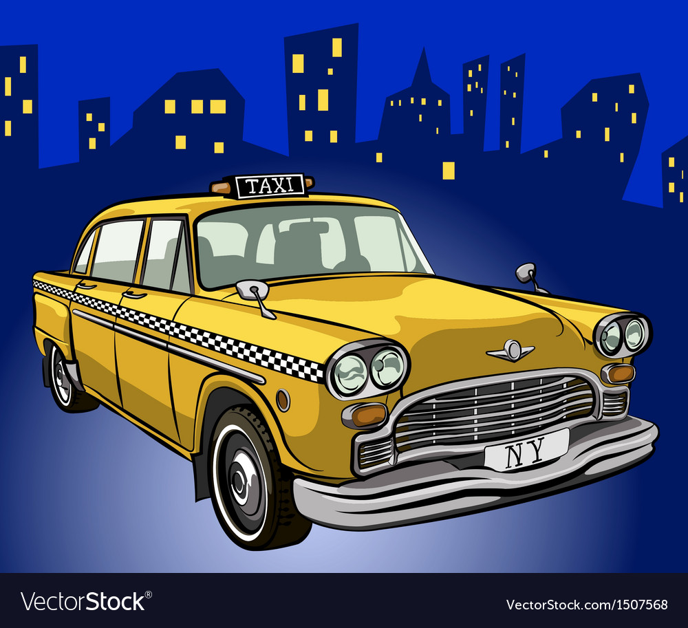 Taxi cab vector | Price: 3 Credit (USD $3)