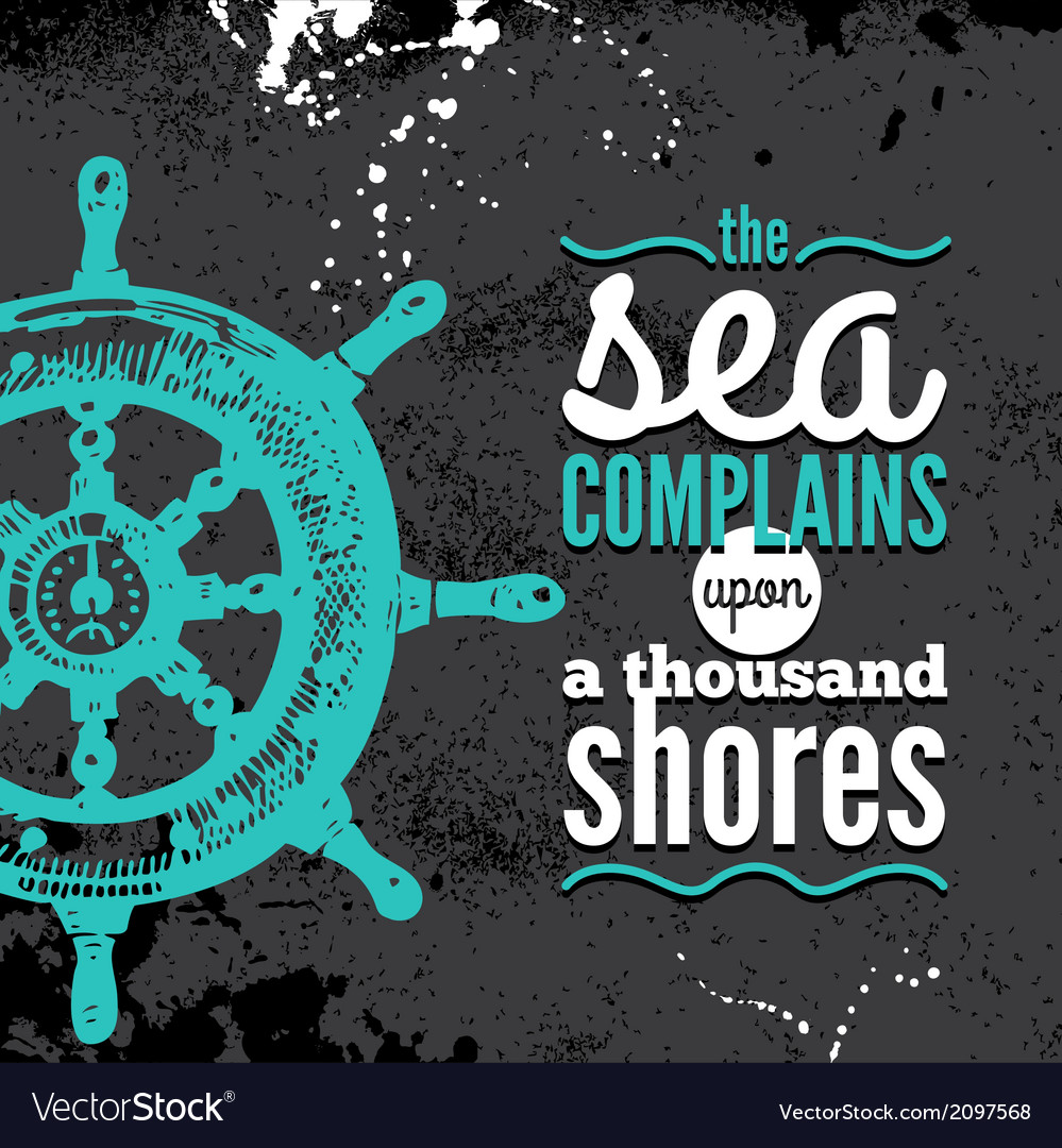 Travel grunge background sea nautical design vector | Price: 1 Credit (USD $1)