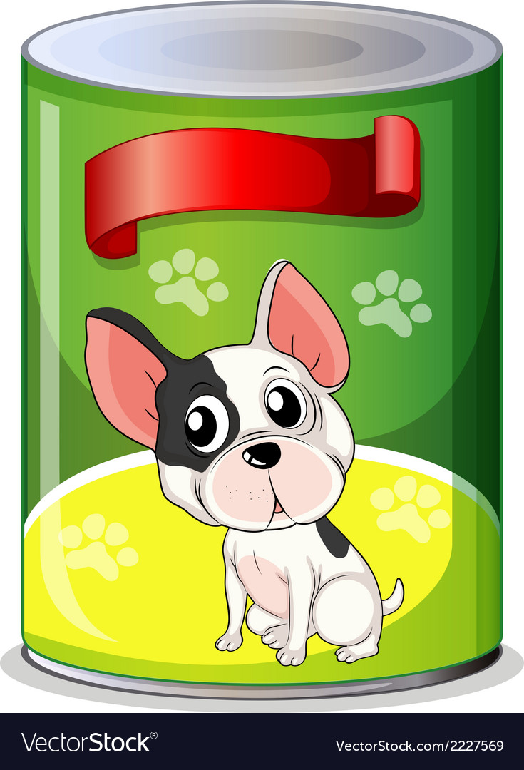 A can with a puppy vector | Price: 1 Credit (USD $1)