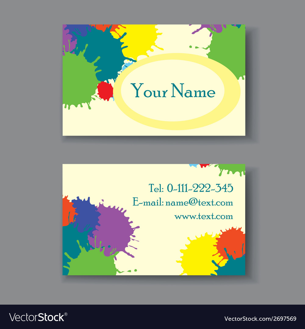Business card with blots vector | Price: 1 Credit (USD $1)