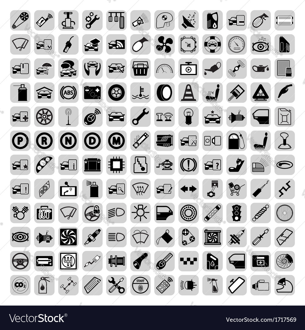 Car part icons vector | Price: 1 Credit (USD $1)