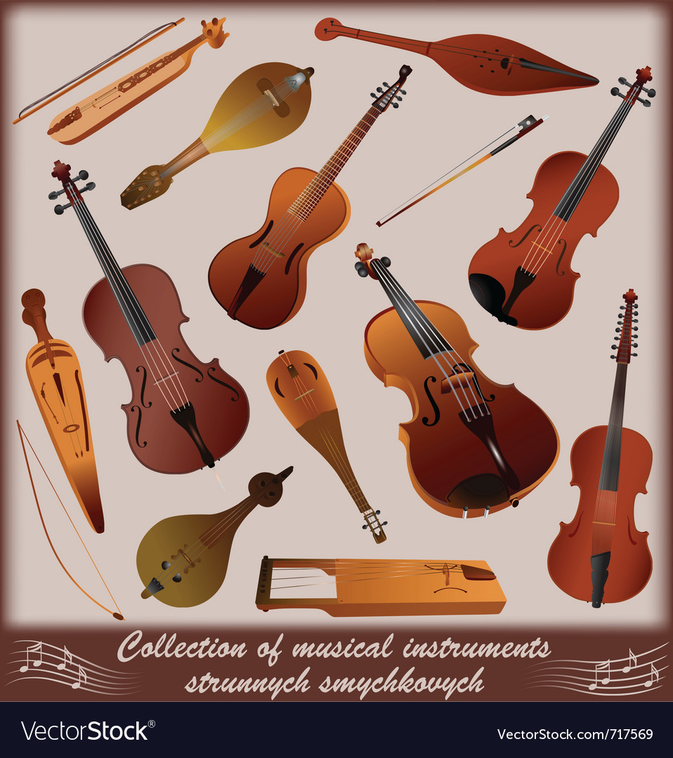 Collection of musical instruments vector | Price: 3 Credit (USD $3)