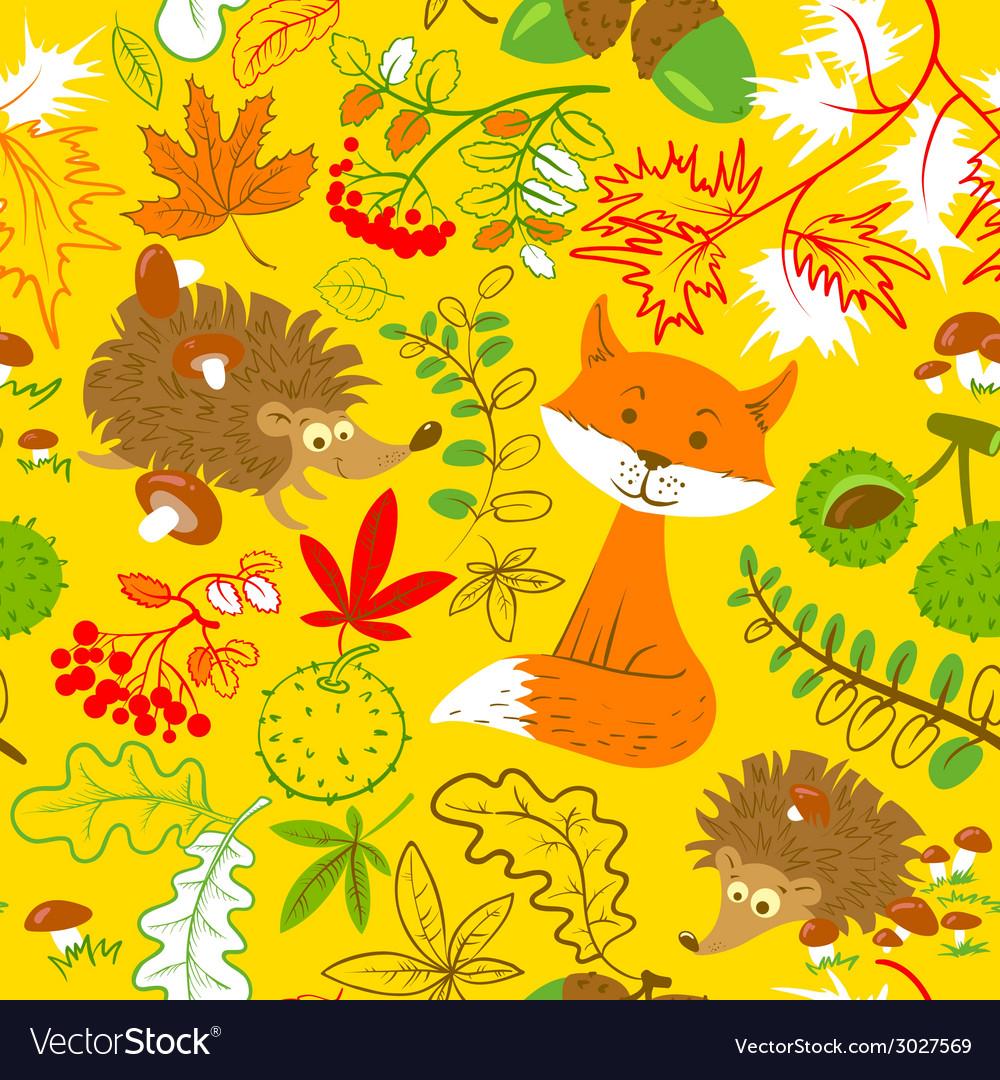 Fall season seamless vector | Price: 1 Credit (USD $1)
