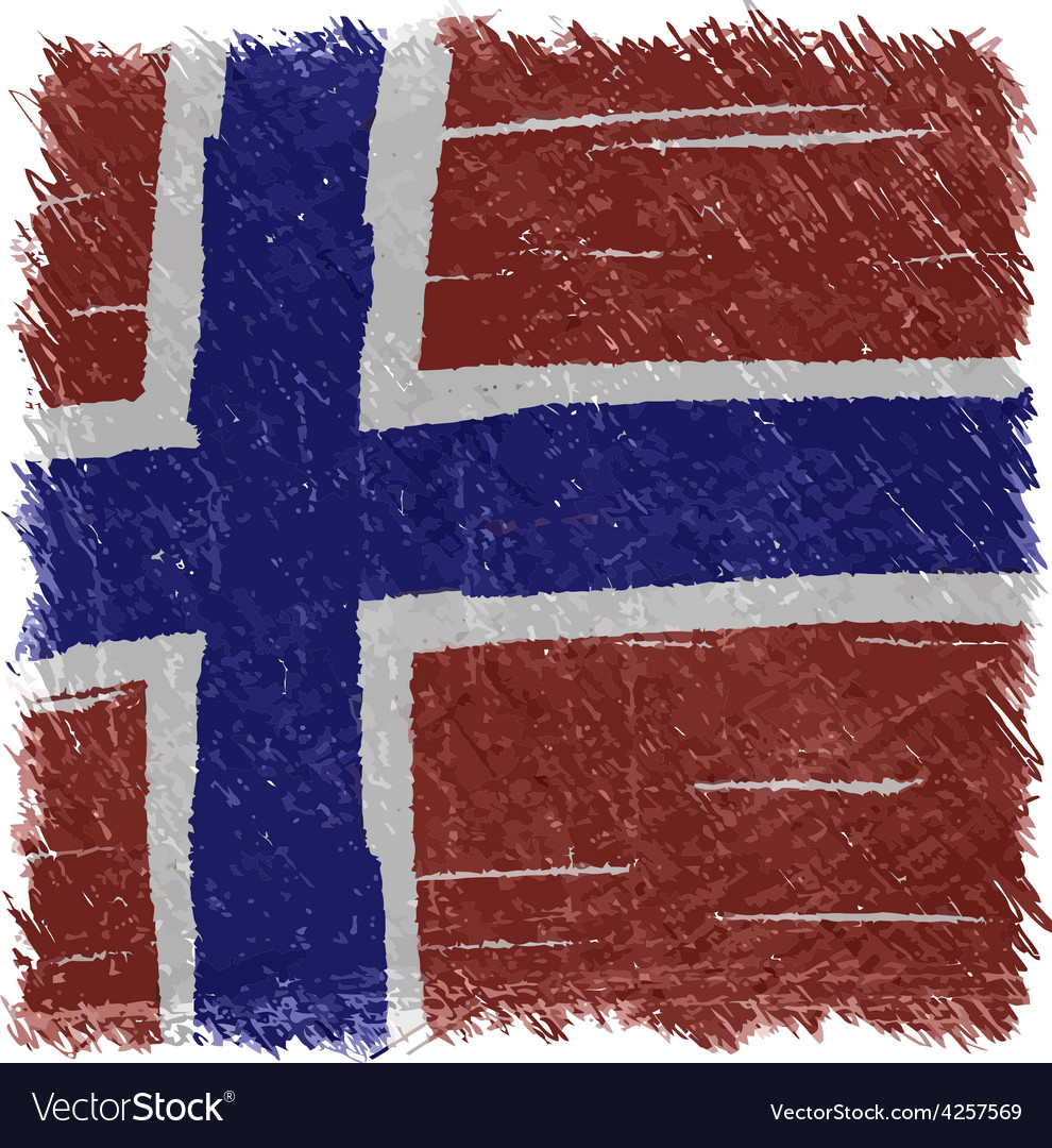 Flag of norway handmade square shape vector | Price: 1 Credit (USD $1)