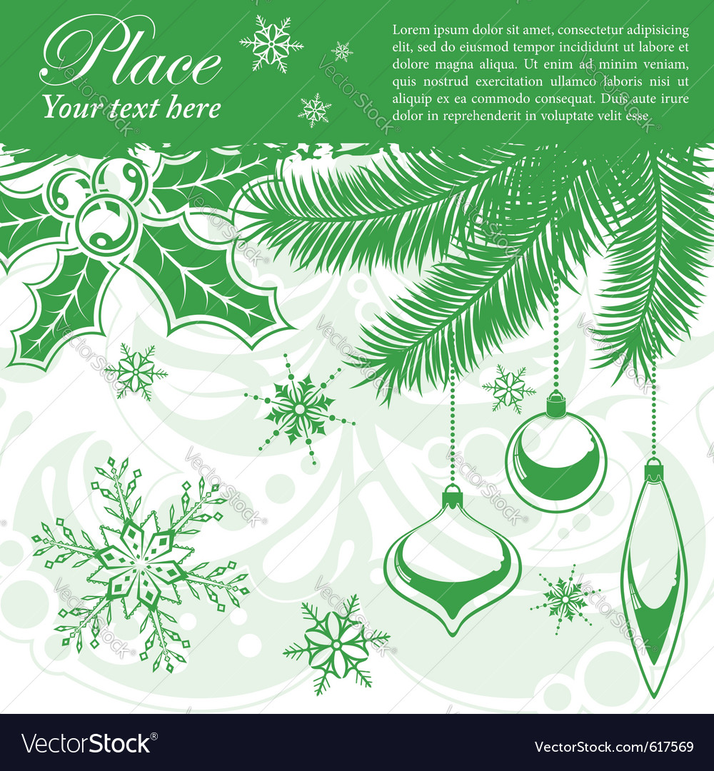 Grunge christmas frame vector   Price: 1 Credit (USD $1)