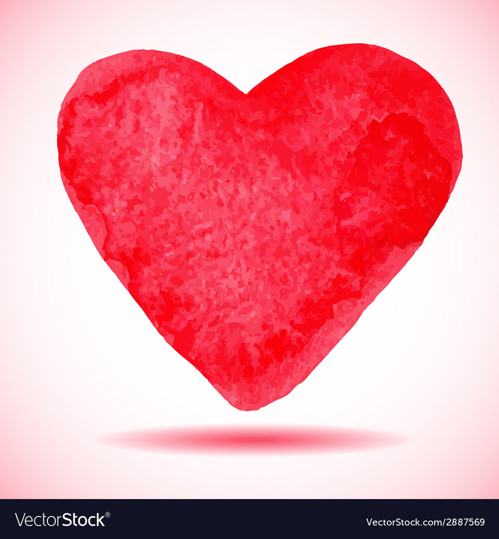 Hand-drawn painted red heart element for your vector | Price: 1 Credit (USD $1)