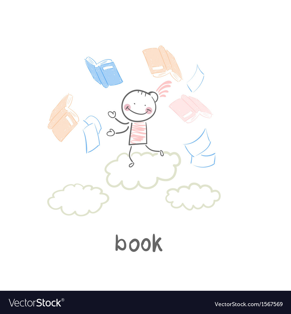 Man and book vector | Price: 1 Credit (USD $1)