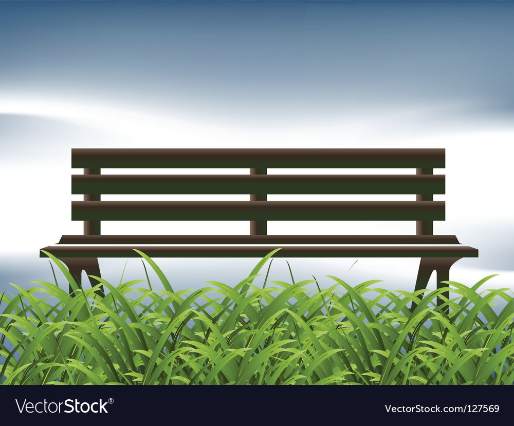 Park bench chill vector | Price: 1 Credit (USD $1)