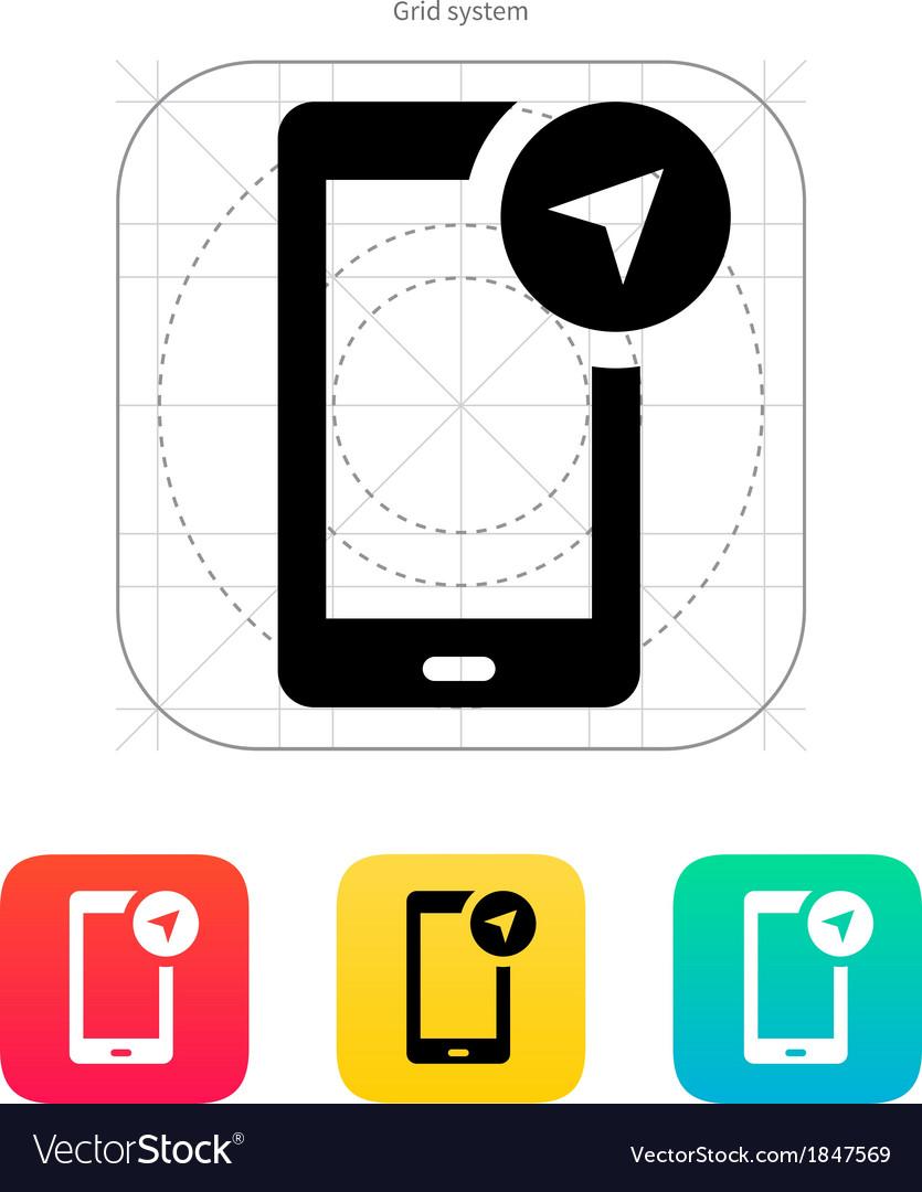 Phone navigator icon vector | Price: 1 Credit (USD $1)