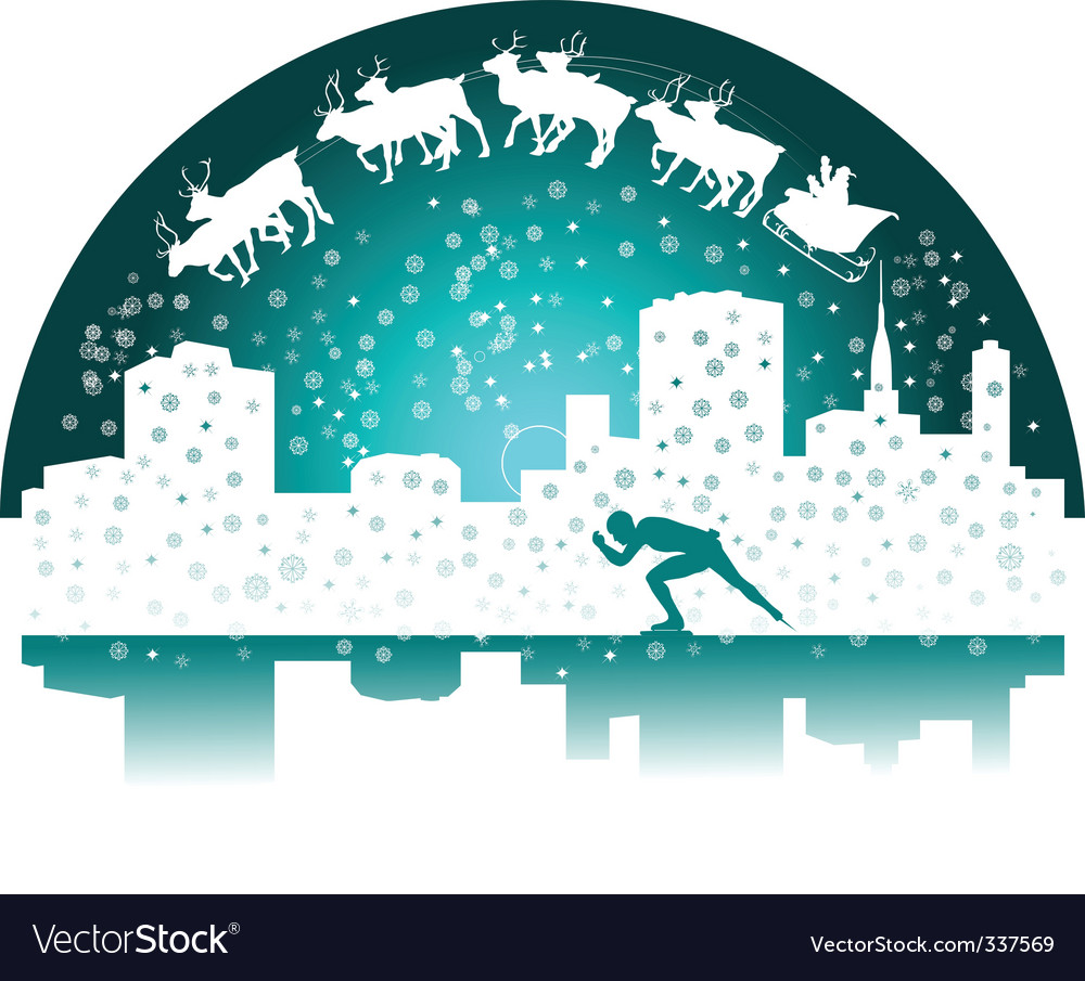Santa and skater vector | Price: 1 Credit (USD $1)