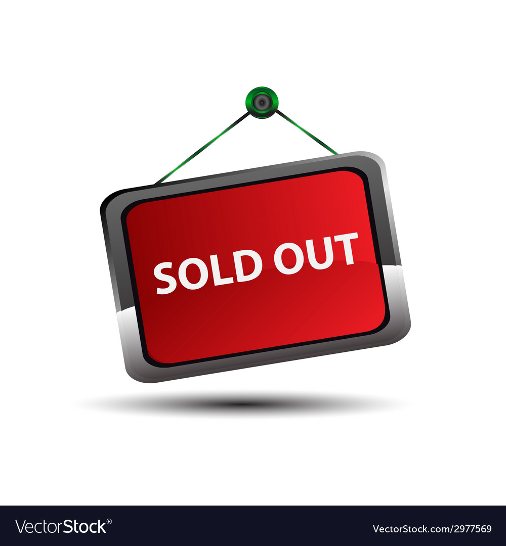 Sold out signs label vector   Price: 1 Credit (USD $1)