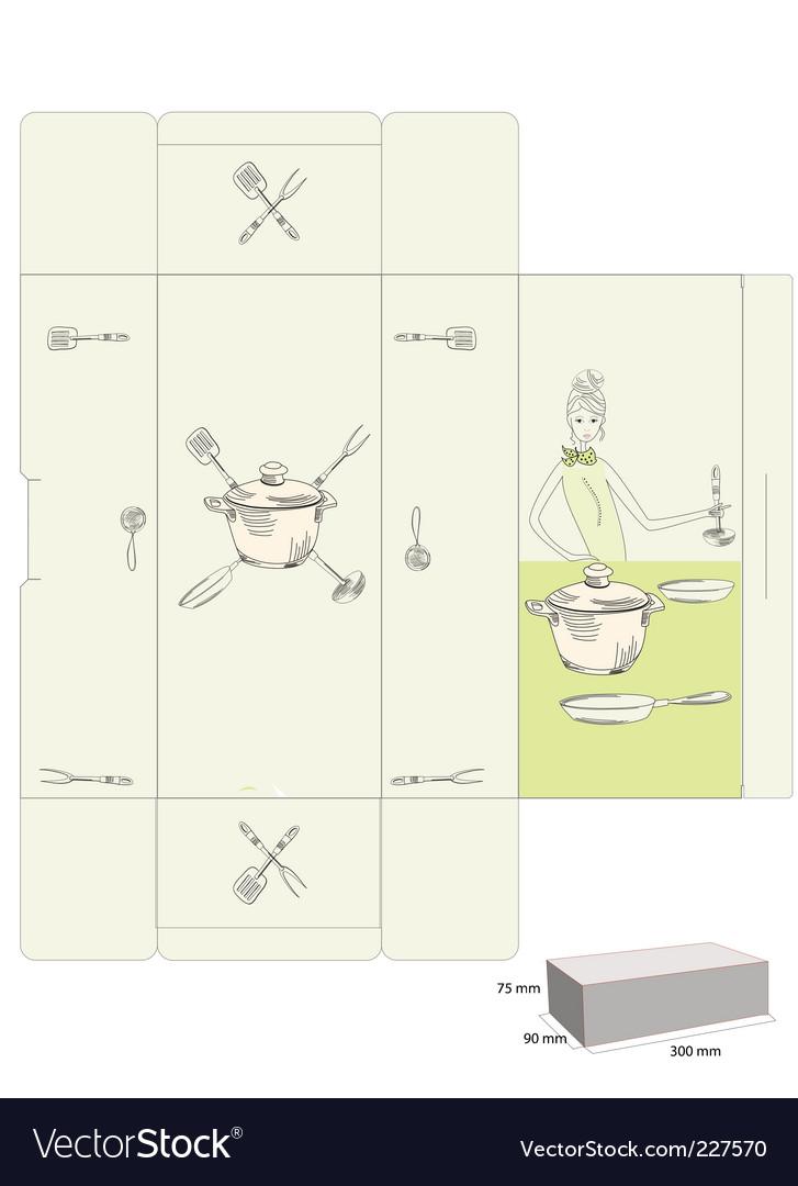 Box template vector | Price: 1 Credit (USD $1)