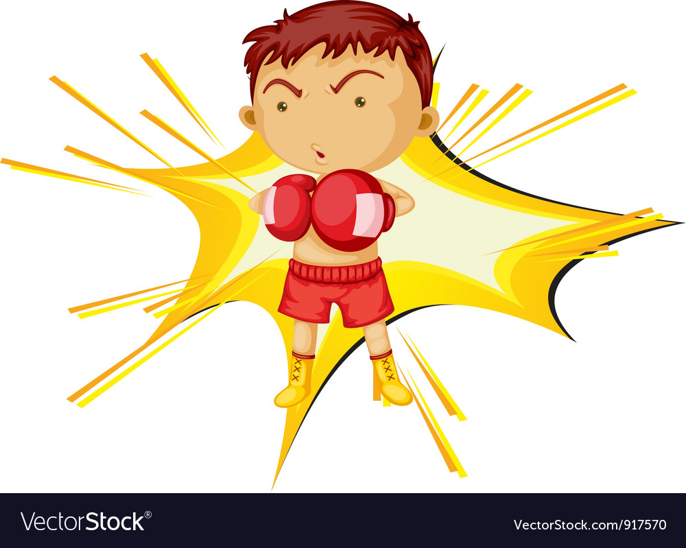 Boxing boy vector | Price: 3 Credit (USD $3)