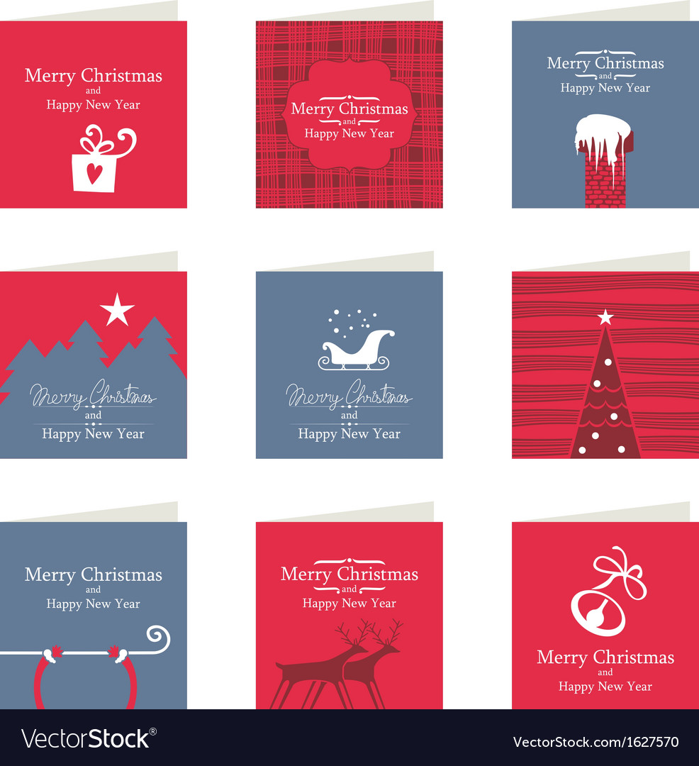 Christmas mini cards vector | Price: 1 Credit (USD $1)