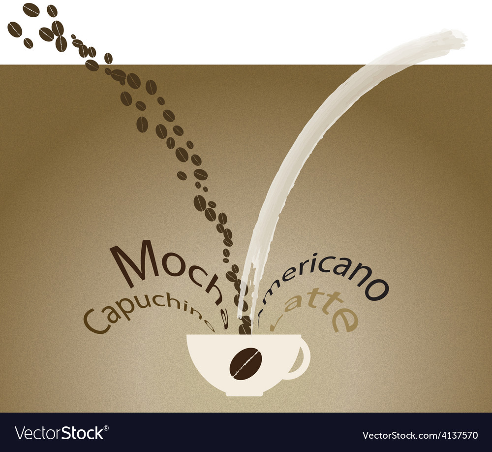 Coffee mix vector | Price: 1 Credit (USD $1)