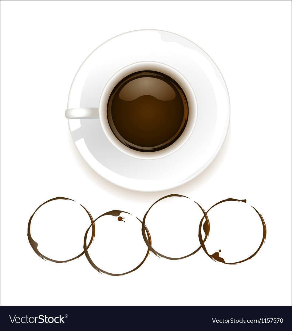 Coffee with stain vector | Price: 1 Credit (USD $1)