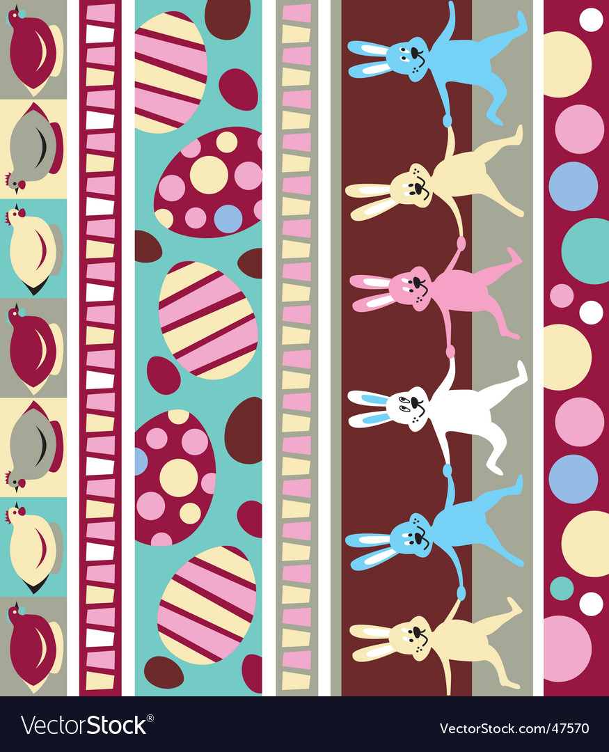Easter border vector | Price: 1 Credit (USD $1)