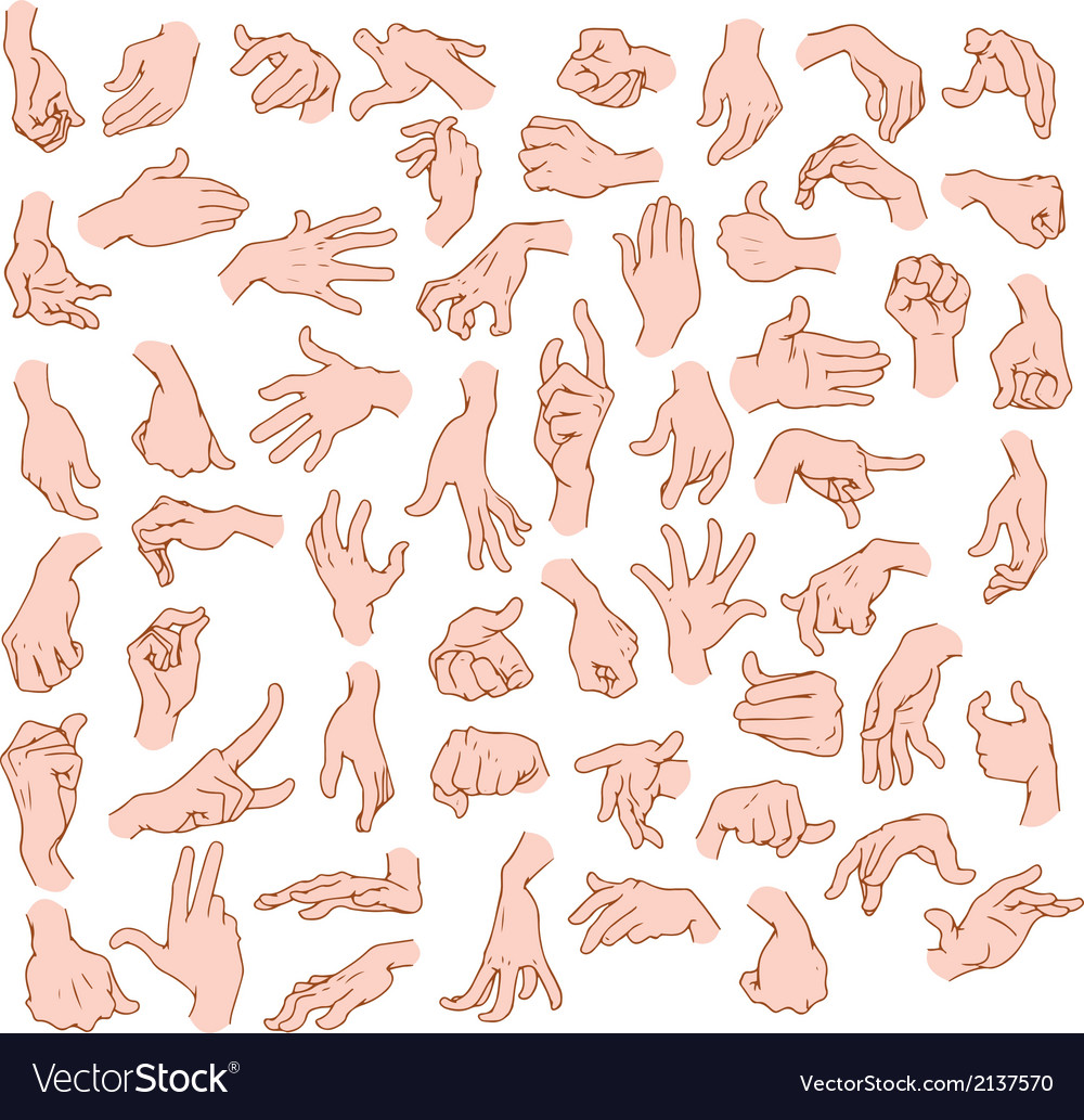 Man hands pack vector | Price: 1 Credit (USD $1)
