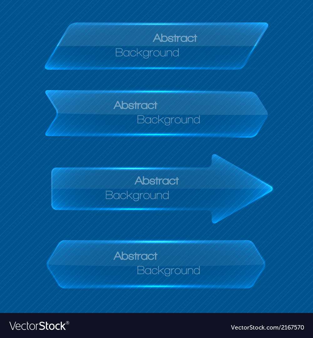 Set of abstract modern style glossy banners vector | Price: 1 Credit (USD $1)