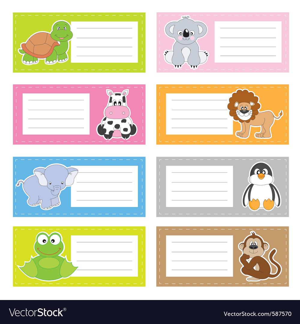 Stickers animals vector | Price: 1 Credit (USD $1)