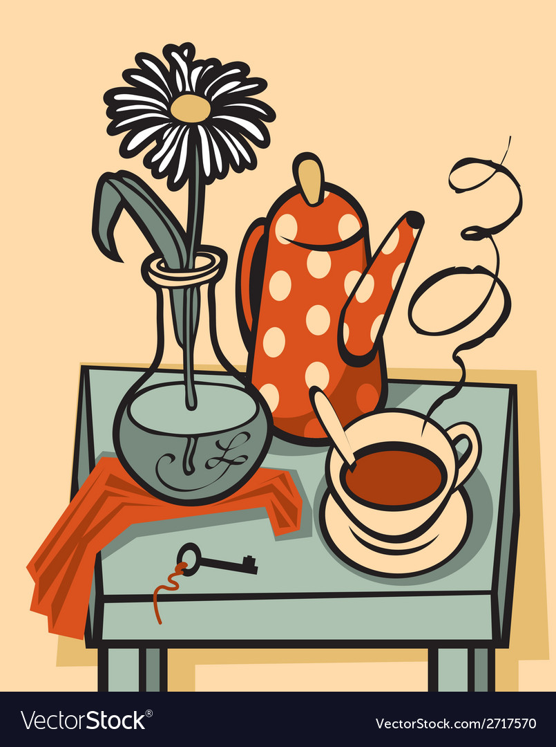 Tea still life vector | Price: 1 Credit (USD $1)