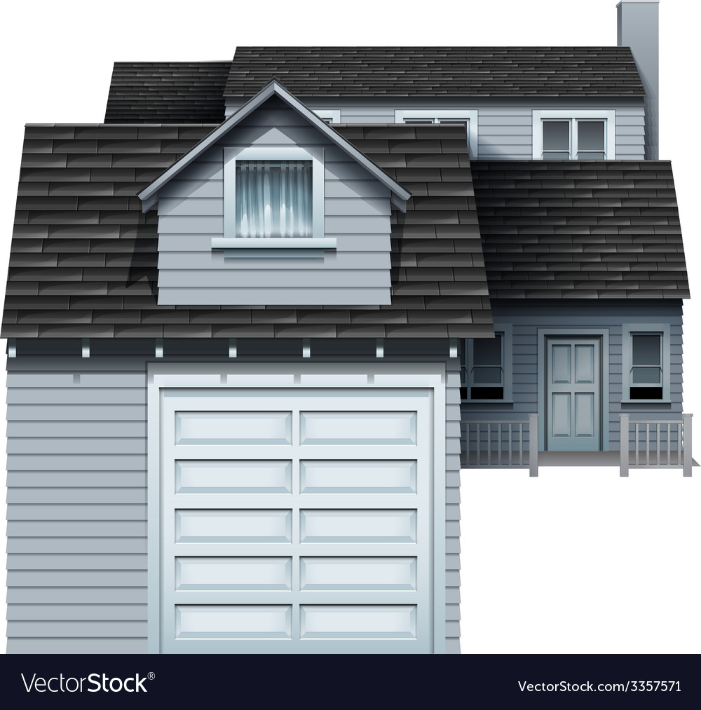 A big grey residential property vector | Price: 1 Credit (USD $1)
