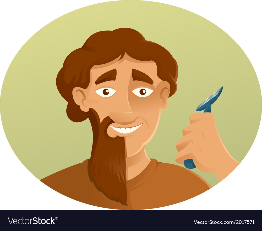 A shaver and the beard vector | Price: 1 Credit (USD $1)
