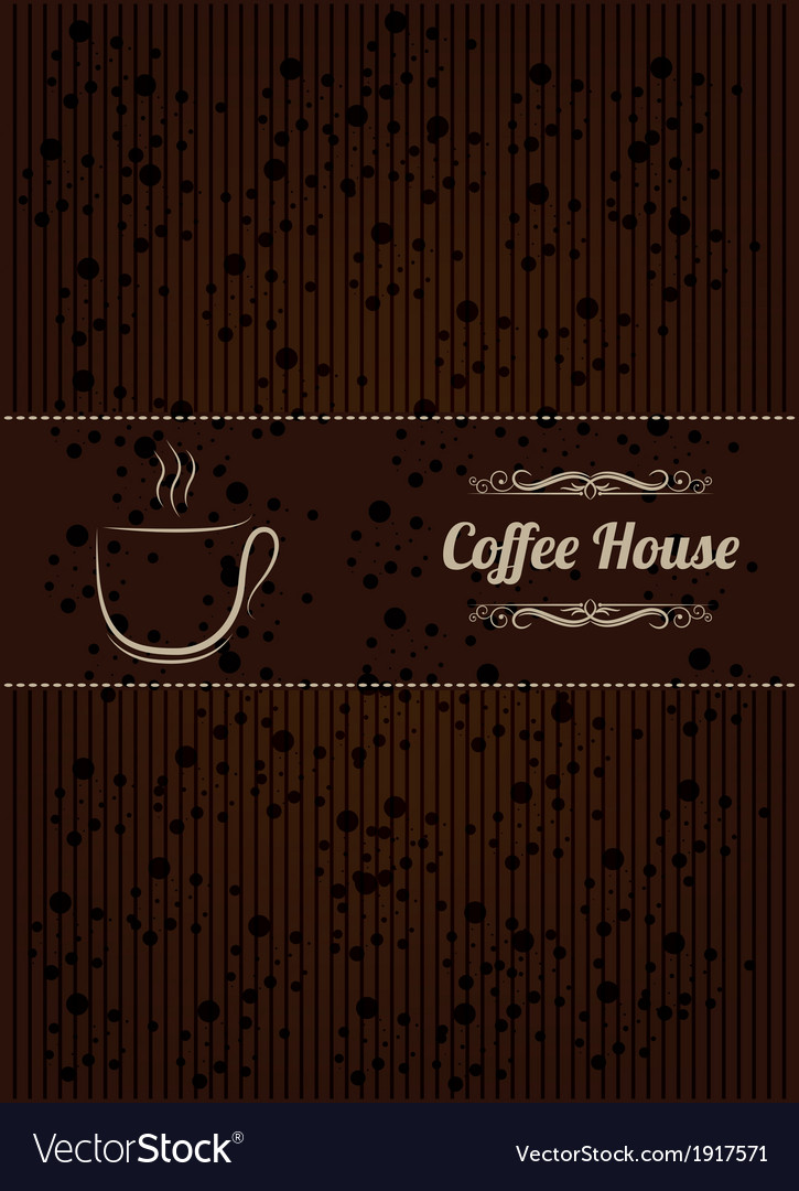 Coffe house menu cover vector | Price: 1 Credit (USD $1)