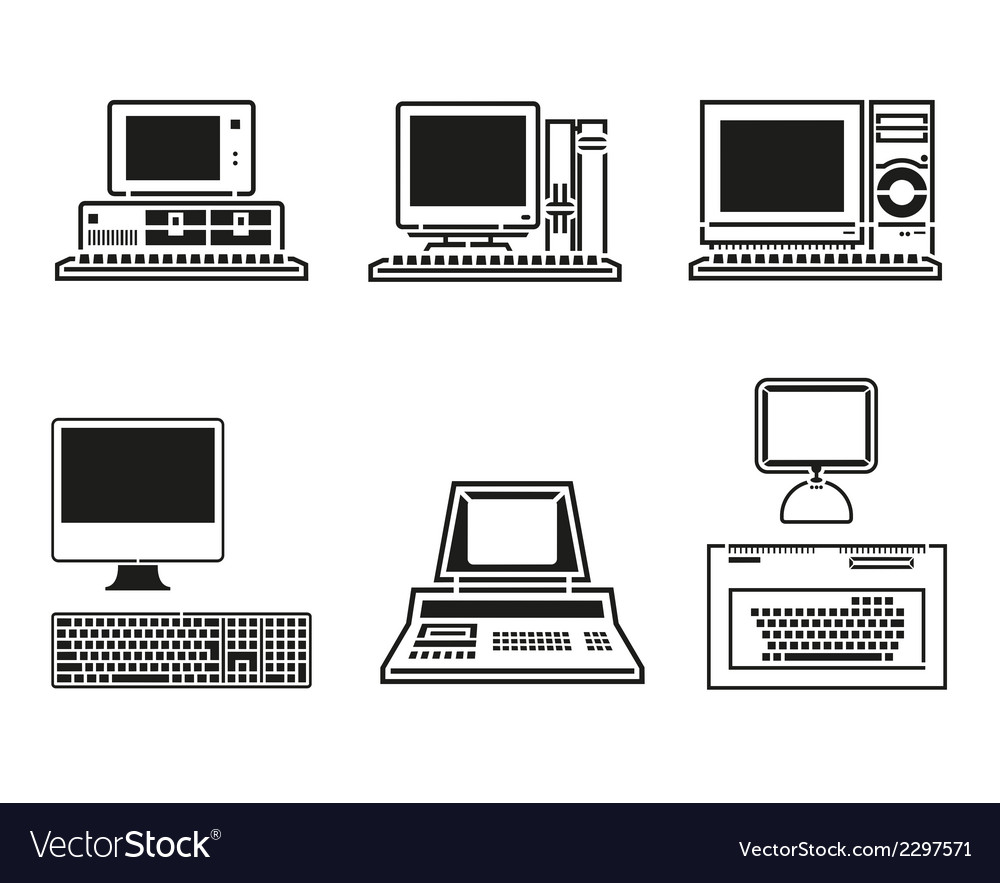 Computer set vector | Price: 1 Credit (USD $1)