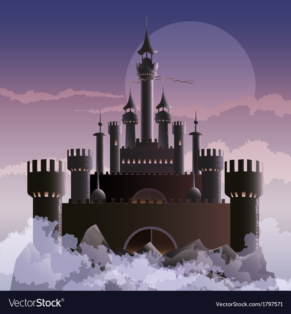 The dark castle vector | Price: 3 Credit (USD $3)