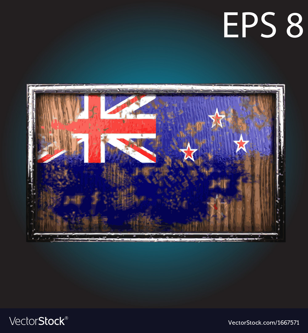 Flag on old wood vector | Price: 1 Credit (USD $1)