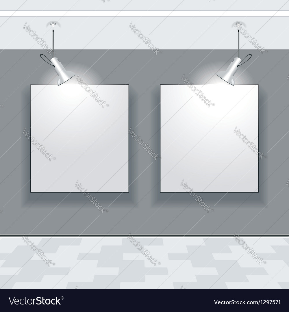 Gallery interior with niche inside the panel vector   Price: 1 Credit (USD $1)