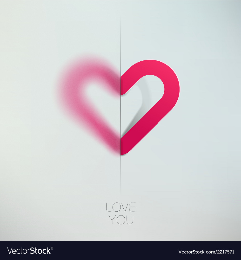 Heart love symbol design template happy valentines vector | Price: 1 Credit (USD $1)