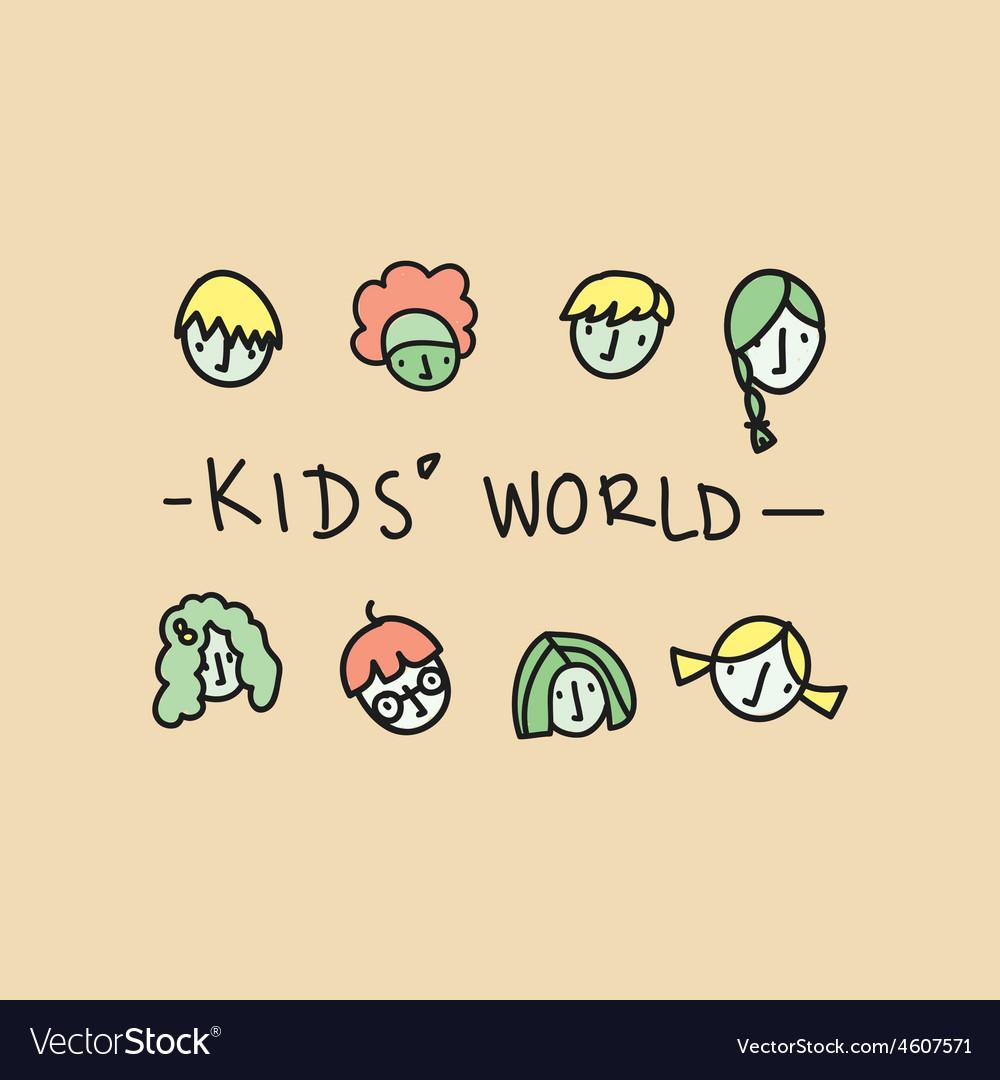 Kids world vector | Price: 1 Credit (USD $1)