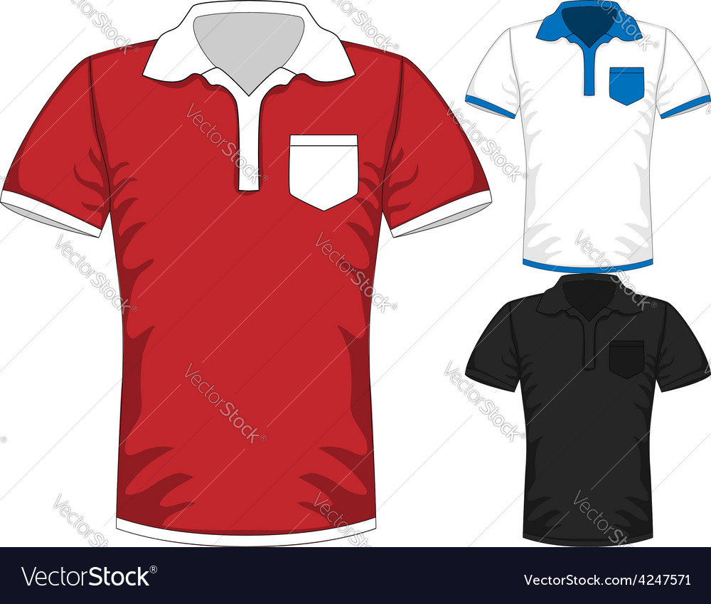 Mens short sleeve t-shirt polo design vector | Price: 1 Credit (USD $1)