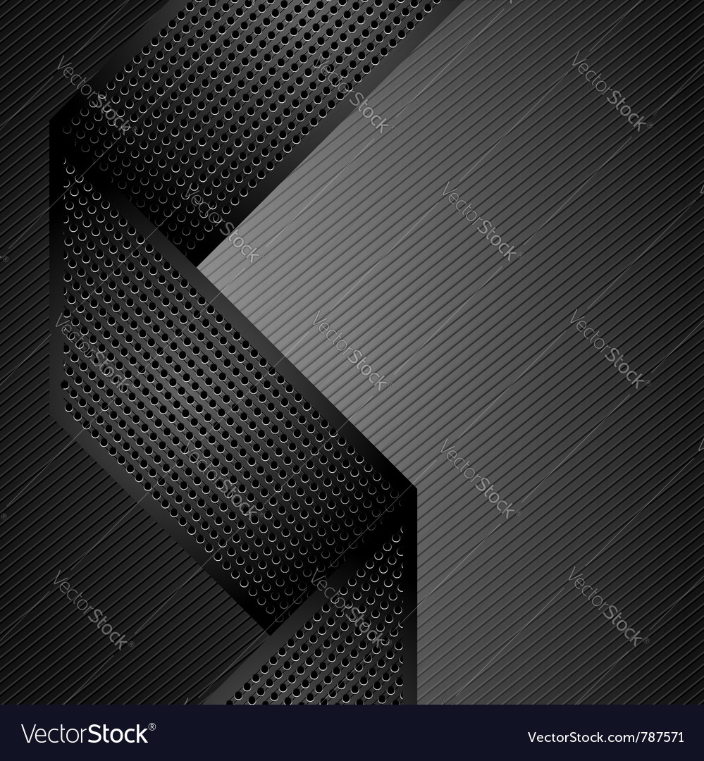 Metallic ribbons on gray corduroy background vector | Price: 1 Credit (USD $1)