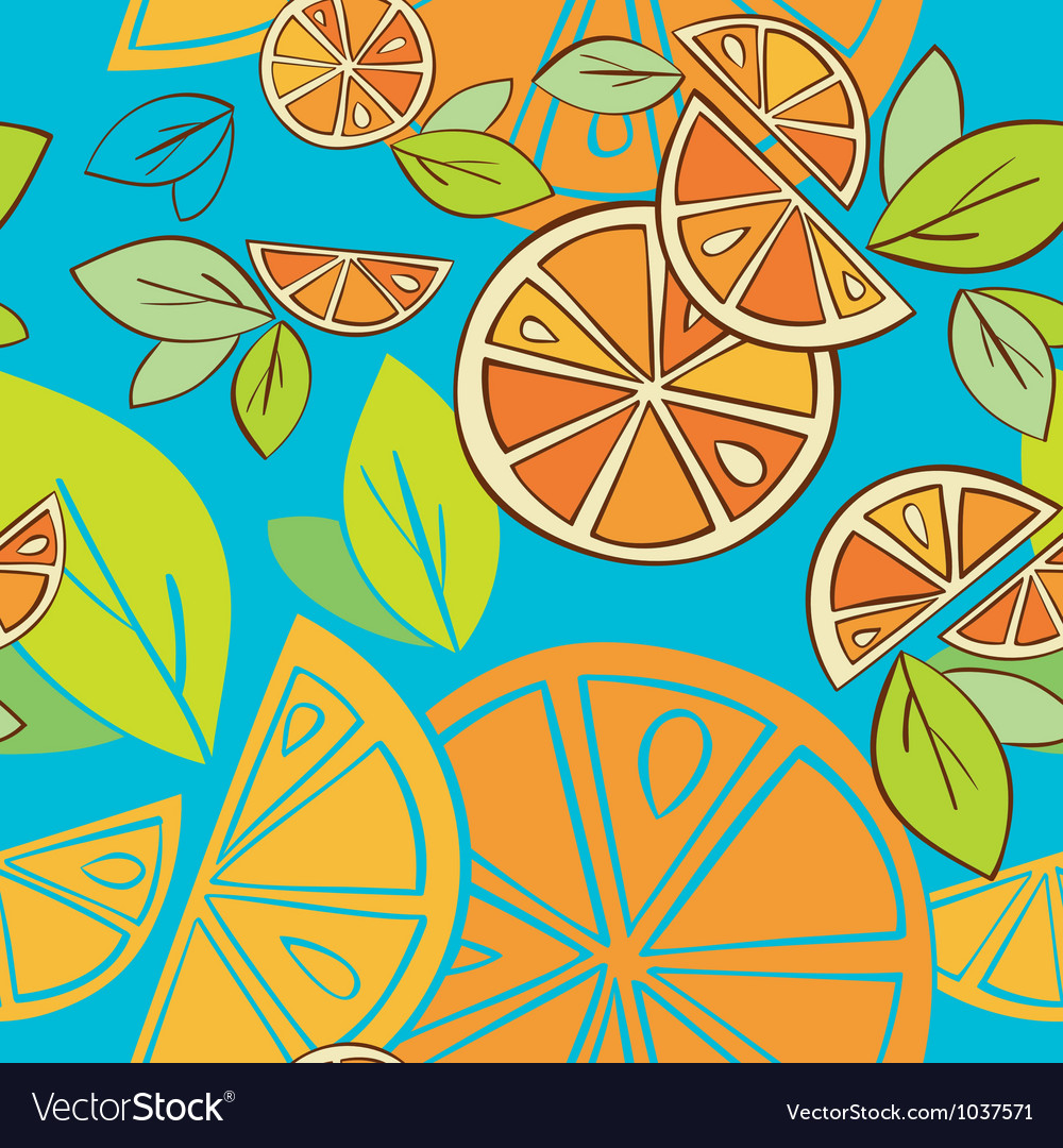 Seamless background citrus mix vector | Price: 1 Credit (USD $1)