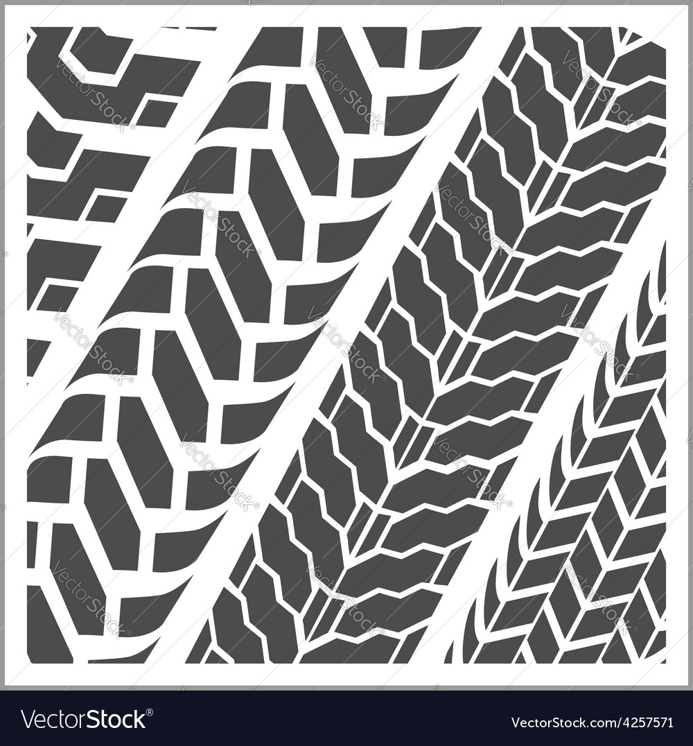 Tire tracks - set vector | Price: 1 Credit (USD $1)