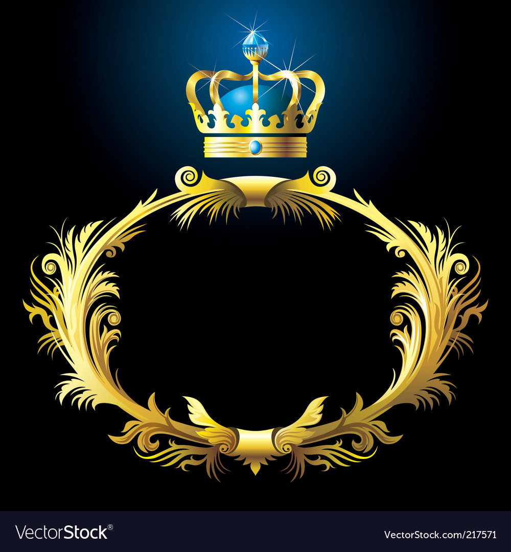 Vignette and crown vector | Price: 3 Credit (USD $3)