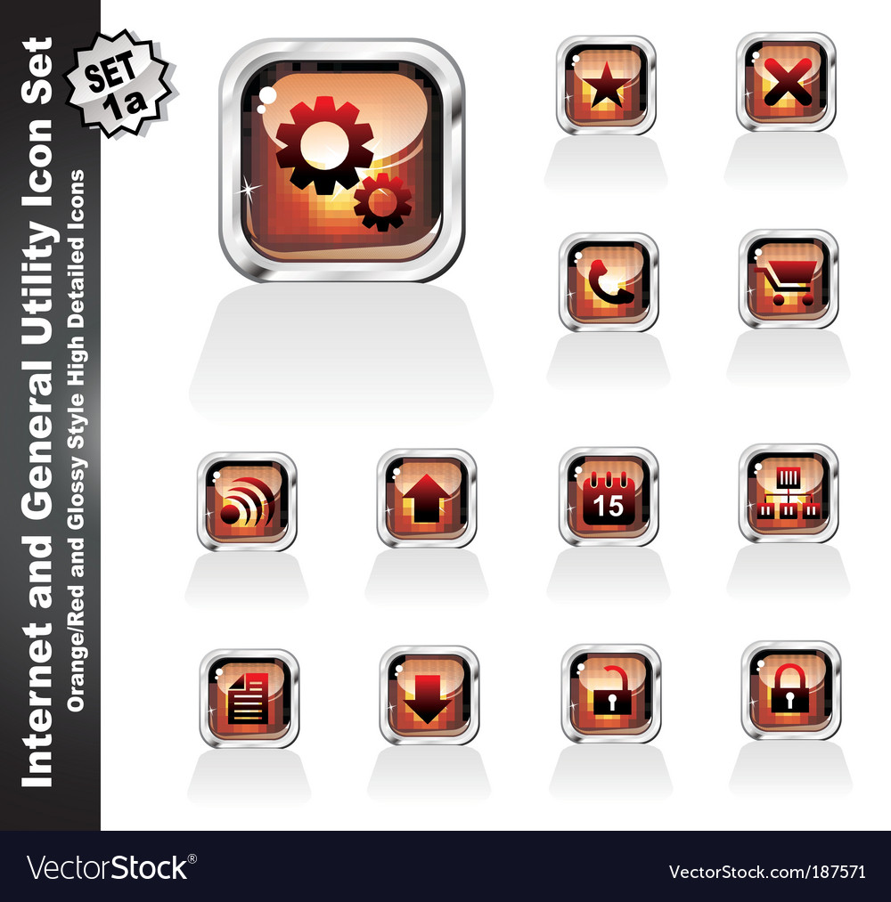 Web and internet utility icons vector | Price: 3 Credit (USD $3)