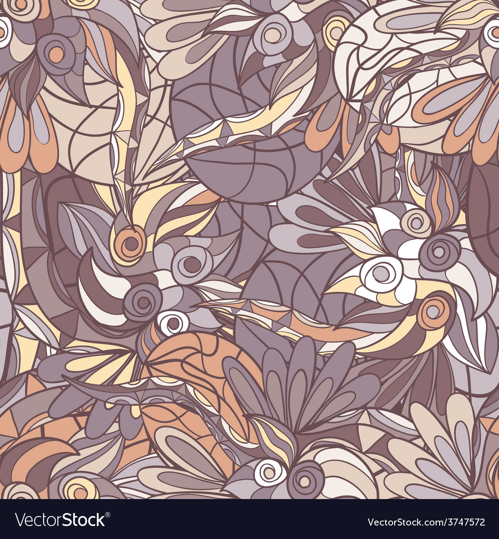 Abstract hand-drawn pattern seamless doodle vector | Price: 1 Credit (USD $1)