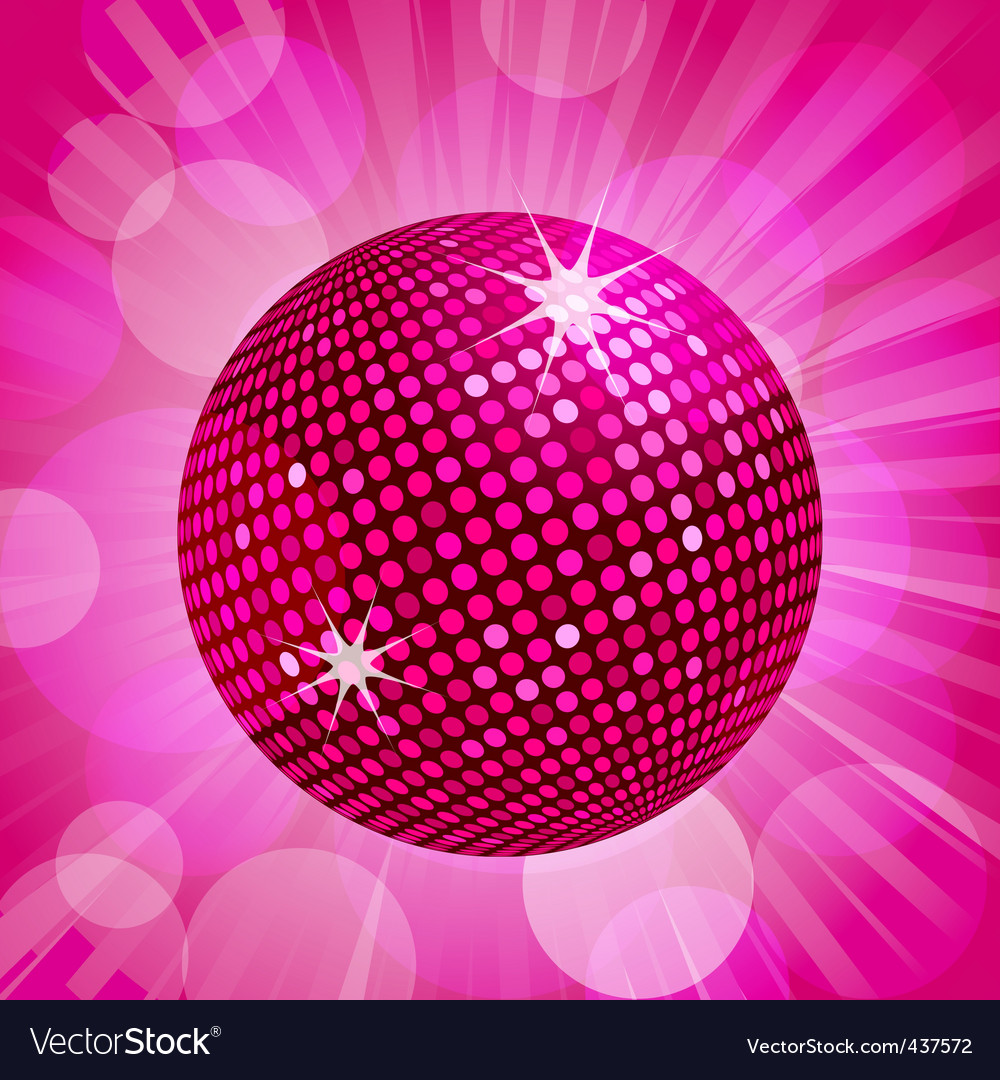 Abstract pink disco ball background vector | Price: 1 Credit (USD $1)