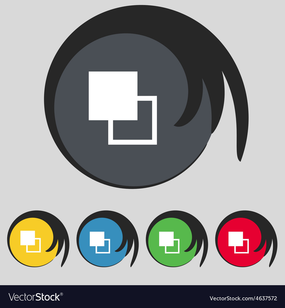 Active color toolbar icon sign symbol on five vector | Price: 1 Credit (USD $1)