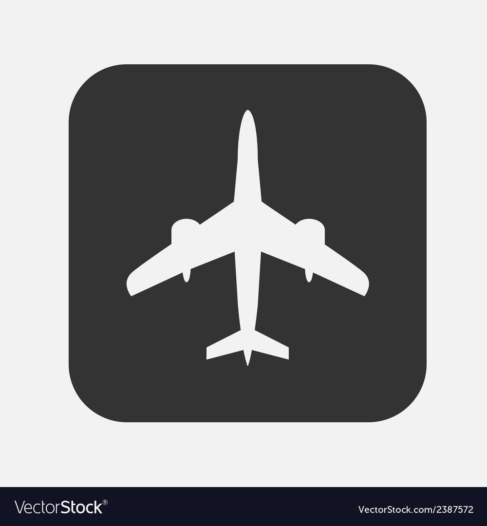 Airplane flat icon vector | Price: 1 Credit (USD $1)