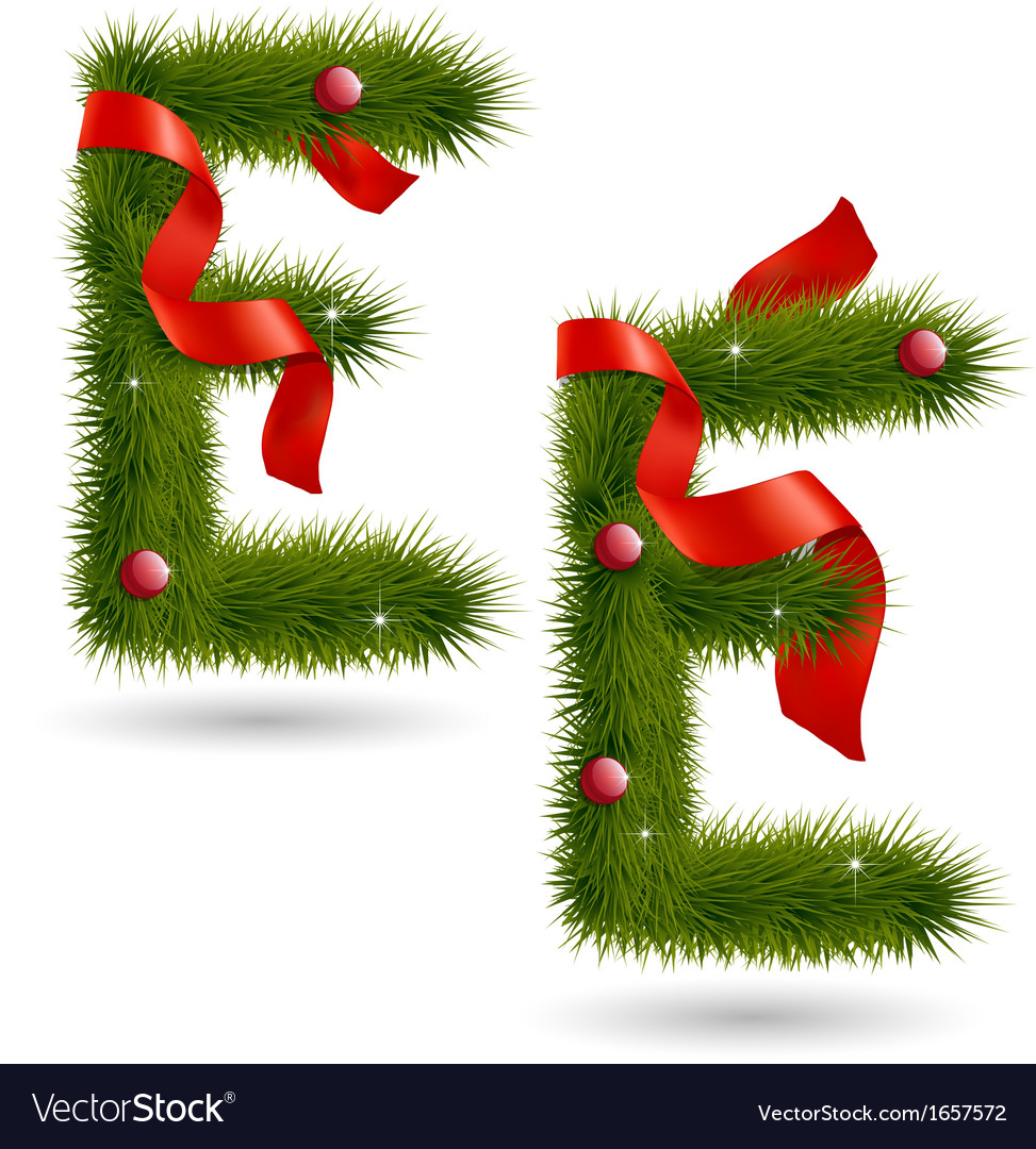 Christmas-related decorative alphabet vector | Price: 1 Credit (USD $1)