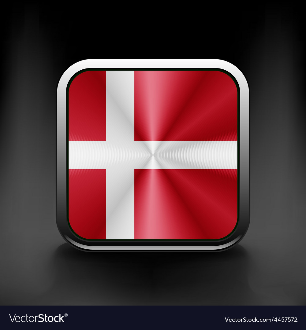 Denmark icon flag national travel icon country vector | Price: 1 Credit (USD $1)