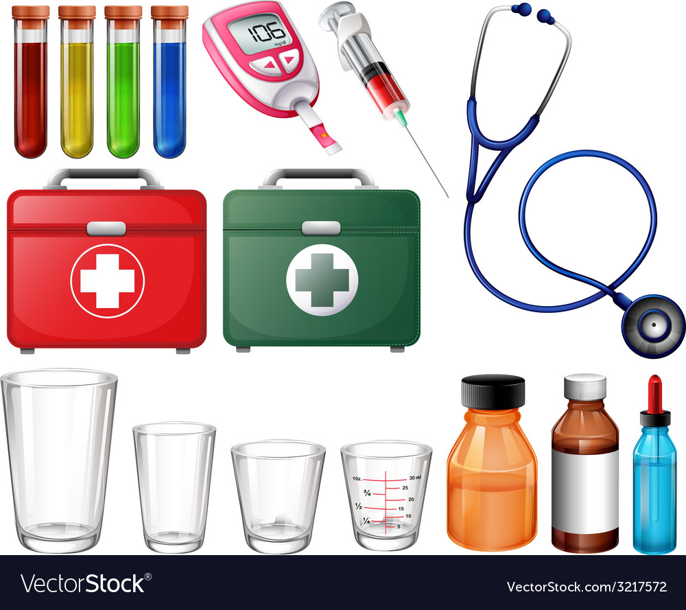 Different medical sets vector | Price: 1 Credit (USD $1)